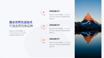【经典商务】潮流蓝桔商务科技实用主义PPT模板6示例5