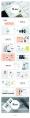 【静态】多色高雅杂志风PPT模板示例6