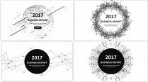 经典黑白点线总结报告工作计划商务策划合集【含四套】