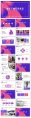 【抽象藝術】現代商務工作匯報總結通用模板示例3
