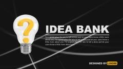 Idea Bank 创意商业计划PPT