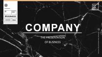 2019大理石商务系列模板【黑白款】示例2