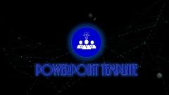 [未来时代]蓝黑科技大气PPT模板