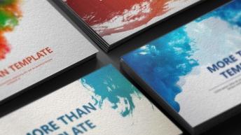 水彩画高端大气简洁多用PPT模板(热卖四套合集)