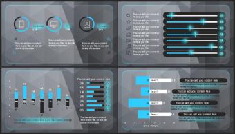 【欧美风格】蓝黑高端创意实用商业模板示例4