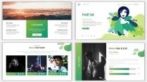 2018绿色极简时尚网页风PPT模板示例7