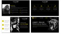 【欧美网页】黑黄大气时尚网页版式年终总结汇报2示例4