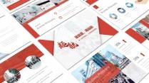 【RED】紅色(四十三)商務工作報告模板【222】