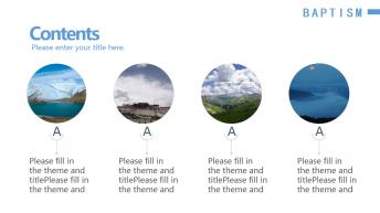 大气商务蓝色旅游相册特设PPT模板示例7