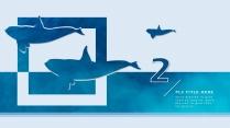 【海洋蓝】欧美简约实用商业计划书PPT模板示例3