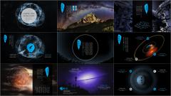 【深色大氣星空商務模板11】美得窒息·每張都是海報