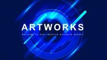【抽象藝術】簡約工作計劃總結項目匯報通用模板