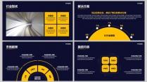 黄色大气框架完整商业计划书(附教程)示例5