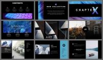 【抽象派】艺术蓝紫渐变酷炫模板4示例5