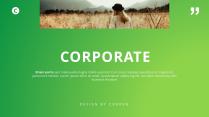 【極簡風】綠色漸變雜志風PPT商務模板示例2