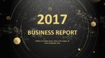 金色年终总结商务报告工作计划项目策划模板系列三
