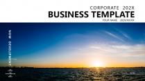 【日出东方】极简高端大气蓝色商务报告年终汇报总结