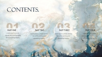 【詩篇】典雅油彩 大氣視覺畫冊級 創意通用模版示例3