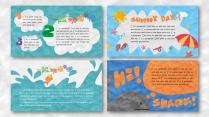 一个好玩的ppt——橡皮泥效果卡通教育模板示例5