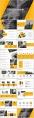 黄色系大气简约工作总结汇报PPT模板合集(含八套)示例3