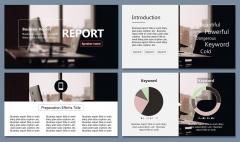 商务报告路演发布-杂志风-简洁排版PPT模板