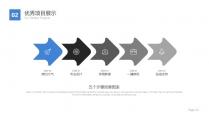 【动态】简约大气商务PPT模板(红蓝双色)示例6
