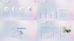 [008]唯美 微立体 葬花商务多用模板示例4