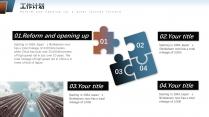 【标致几何】深蓝商务年终报告策划计划模板示例4