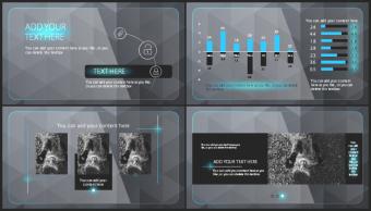 【欧美风格】蓝黑高端创意实用商业模板示例2