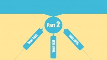浅蓝黄撞色时尚线性图示模板示例5
