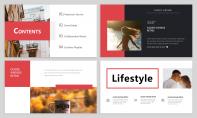 【簡約商務】紅色精致簡約商務雜志風PPT模板示例3