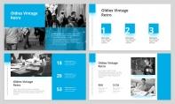 【簡約商務】完整流程藍色雜志風工作匯報PPT模板