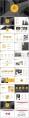 黄色系大气简约工作总结汇报PPT模板合集(含八套)示例6
