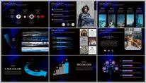 【蓝黑酷炫】大气极简几何低多边形商务报告模版示例5