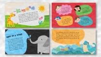 一个好玩的ppt——橡皮泥效果卡通教育模板示例3