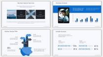 蓝色插画风极简年终商务汇报PPT模板示例7