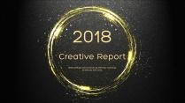 金色年终总结商务报告工作计划项目策划模板系列十五