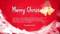 【圣诞新年】红白庆典个性时尚多边形节日拼贴p示例4