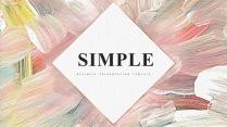 【简约商务】创意抽象艺术水彩现代商务汇报工作计划模