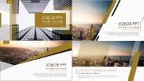 【4套装:浅色大气金色商务模板1-4】欧美杂志创意
