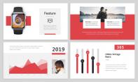 【簡約商務】紅色精致簡約商務雜志風PPT模板示例4
