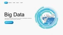 【极致商务】蓝色科技互联网大数据工作汇报PPT