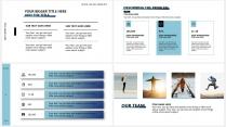 【高山流水A】极简高端大气蓝色商务报告年终汇报总结示例6