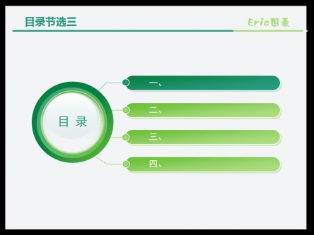 目录节选(绿色系)