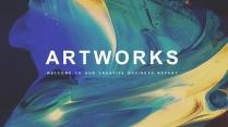 【抽象艺术】现代商务工作计划总结通用模板