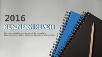 【藍灰隨想】商務報告畢業論文實用圖表通用PPT模板