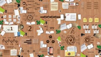 【仿真】办公桌 时尚创意 流畅演示 欧美 模板示例3
