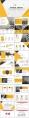 黄色系大气简约工作总结汇报PPT模板合集(含八套)示例7