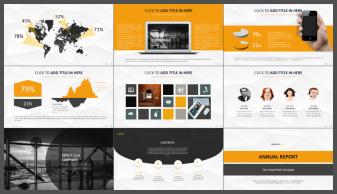 【黑黄】顶级实用创意商务模板