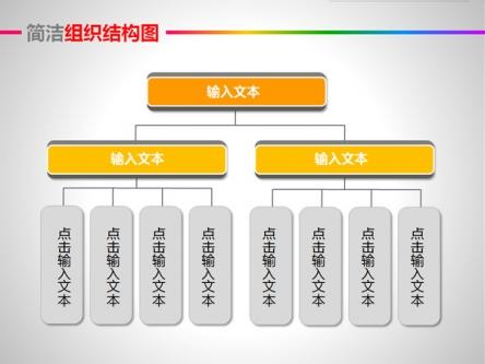 【简洁组织结构图ppt模板】-pptstore